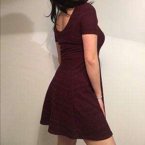H&M Maroon Flare Dress